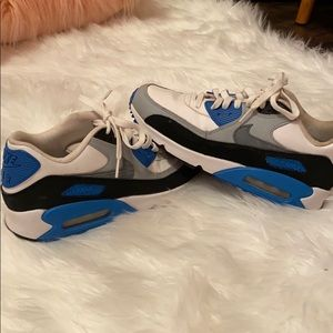 Nike Air max 90 blue and white
